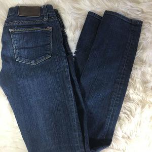 VS Pink Skinny Dark Wash Jeans Size 0